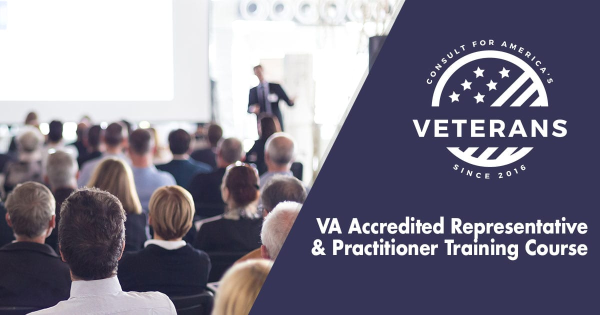 VA Accredited Representative & Practitioner Training Course